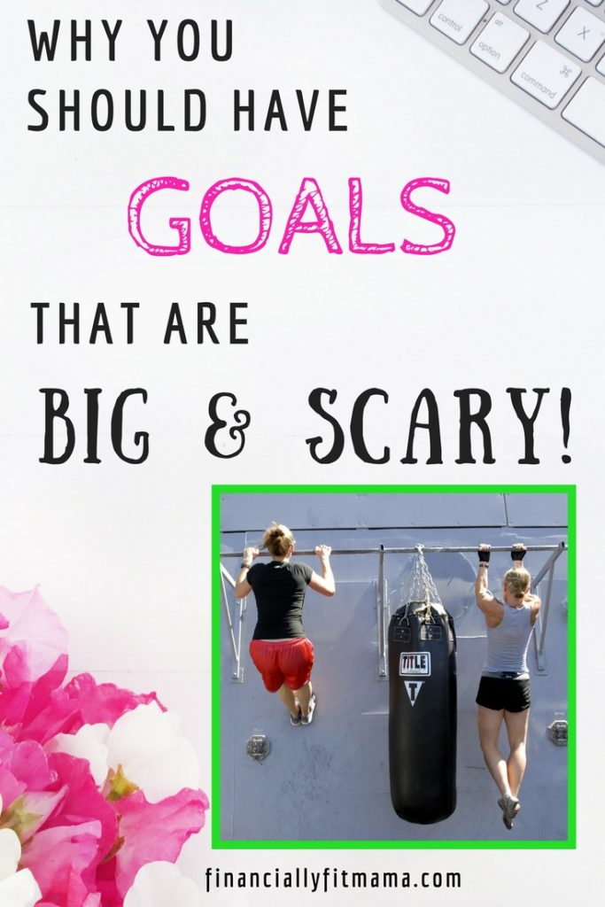 Goal setting is so important. But it can be hard to know what kind of goal to set. I say make your goals BIG and SCARY! #Goals #Goalsetting #Fitness #Health